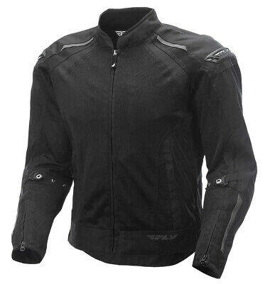 Fly Racing - CoolPro Mesh Motorcycle Karting Jacket - Solid Black Small