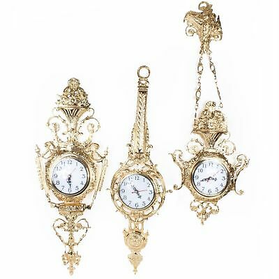 Three Solid Brass Wall Clock Any Shape The Price For All French Style Louis Xv