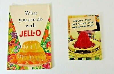 2 Vintage 1930's Recipe Booklets What You Can Do With JELL-O & Tempting Recipes
