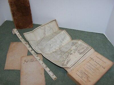 Antique 1809 New England Copperplate Map By Morse & Book