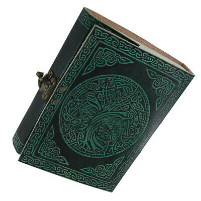 Medieval Celtic Tree of Live Handmade Leather Sketchbook Diary Journal