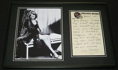 Iris Adrian Signed Framed 12x18 Letter & Photo Display