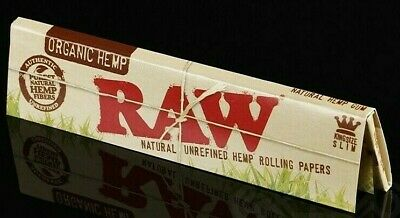 Raw Organic Hemp King Size Slim Rolling Papers Natural Unrefined MULTI PACK SAVE