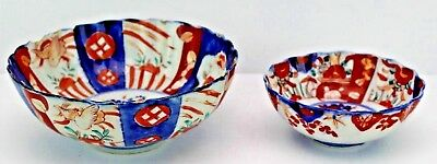 Antique Japanese Imari Porcelain Bowls , 19th Century