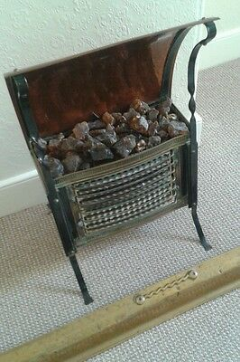 Antique fire stove/ copper & Brass arts & crafts style cottage fireplace