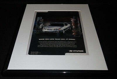 2001 Hyundai Tiburon Framed 11x14 ORIGINAL Vintage Advertisement