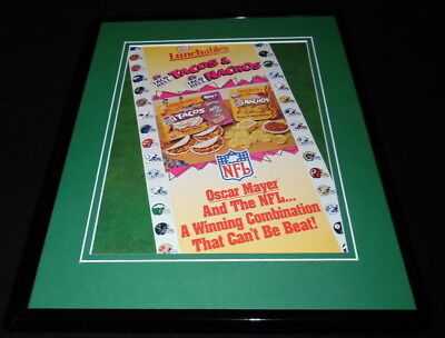 1997 Taco Bell Lunchables Framed 11x14 ORIGINAL Advertisement