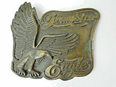 Vintage Transtar Eagle Brass Belt Buckle International Harvester Co.