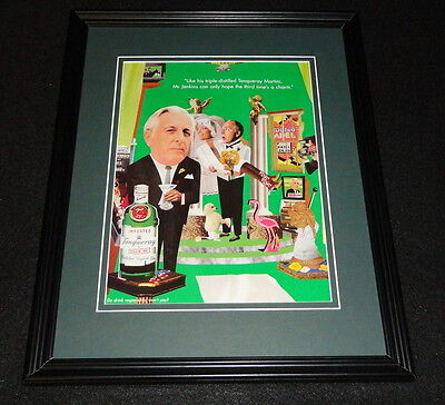 1998 Tanqueray Gin Framed 11x14 ORIGINAL Advertisement