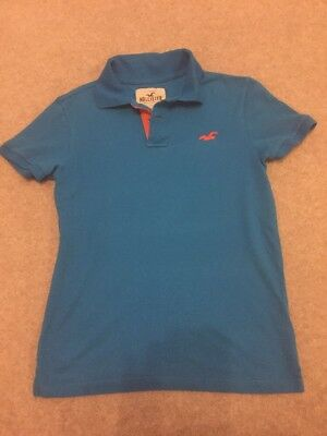 Hollister Blue Polo Shirt Guys Small Blue Tshirt