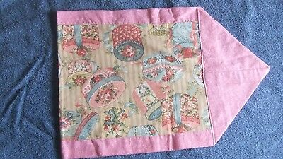 Handmade 42 inch Fabric Table Runner Pink Floral Boxes Patten