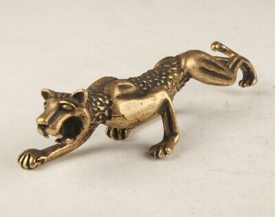 Unique Chinese Bronze Statue Solid Animal Tiger Mascot Collection Gift