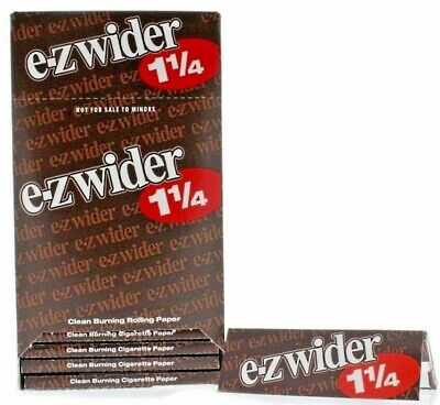 E Z Wider 1.25 Rolling Papers 1 1/4 *MULTI PACK DISCOUNT* *USA SELLER*