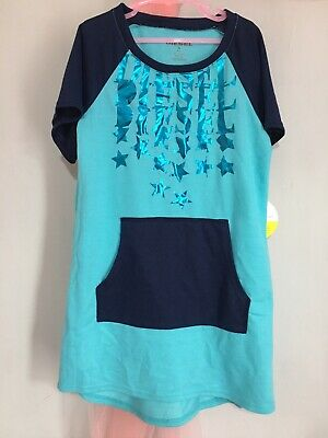 New With Tags Girls Designer Diesel Blue Metallic Star Print Nightie 6-7yrs ⭐️⭐️