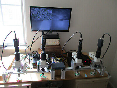 Microscope Inspection Assembly with 4 cameras & equipment