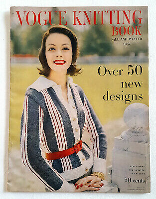 Vintage Vogue Knitting Book Magazine 1957 Fall and Winter