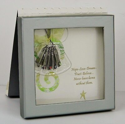 """NIB - """"Hope, Dream, Love"""" Charm Necklace & Gift Card by Patricia Darling Dash"""