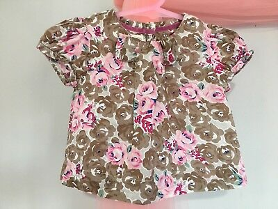 Cute Baby Girls Monsoon Floral Summer Blouse Top 0-3m🎀