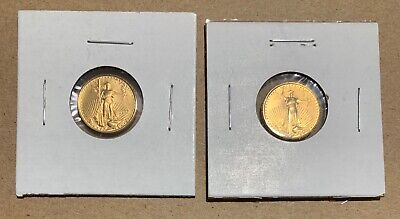 1997 1/10 oz $5 AMERICAN EAGLE GOLD COINS (TWO)