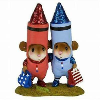 Wee Forest Folk M-533c 4th of July Crayons Color me RWB