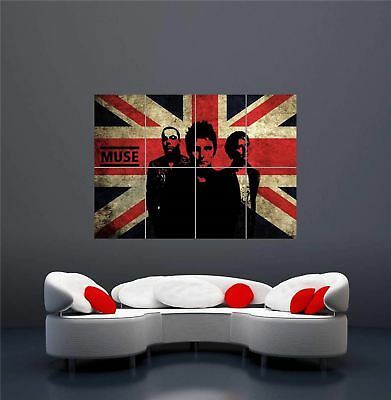 Muse Rock Band Uk Music Union Jack New Giant Wall Art Print Poster Oz349