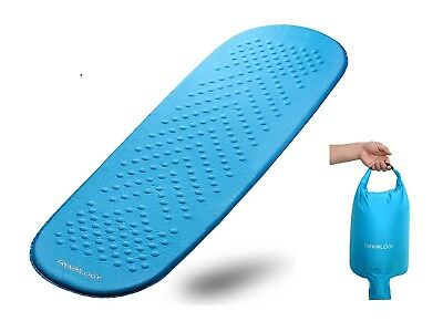 Self Inflating Sleeping Mat in an Air Pump Dry Sack Bag, Portable Lightweight Ro