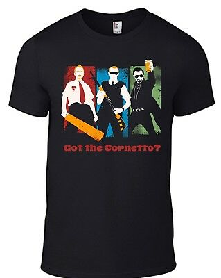 SHAUN OF THE DEAD T-Shirt Hot Fuzz Worlds End Zombie movie Simon Pegg comedy B