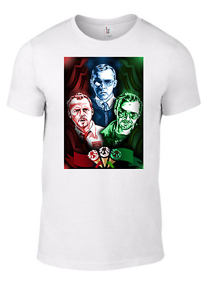 SHAUN OF THE DEAD T-Shirt funny Hot Fuzz World End poster movie dvd Simon Pegg W