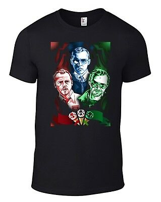 SHAUN OF THE DEAD T-Shirt funny Hot Fuzz World End poster movie dvd Simon Pegg B