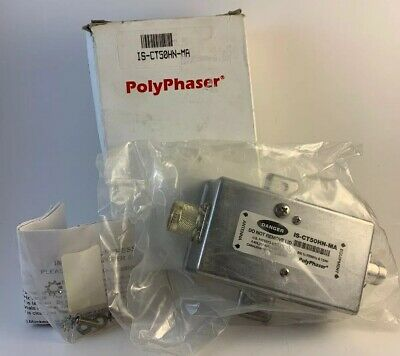 PolyPhaser IS-CT50HN-MA Impulse Suppressor New in Box - Sealed