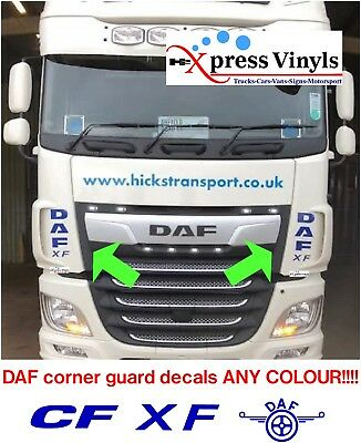 DAF truck decals x 2. corner guard graphic stickers. ANY COLOUR!!!