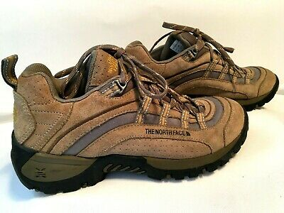 26e3af8de THE NORTH FACE X2 Hiking Shoes Womens Size 9 Brown Trail Walking Lace Up