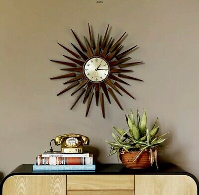 John Lewis Pluto Sunbusrst Vintage Brass Wall Clock Rrp £119 In Store Now ...