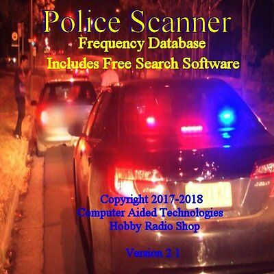 2018 MR SCANNER (SINGLE State) Frequency Database CD  Police-Fire-EMS-Businesses