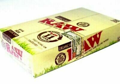 RAW Organic Hemp 1 1/4 Rolling Papers - Full Box of 24 Pack