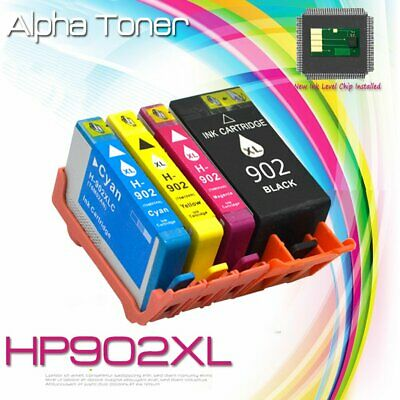 4PK Ink For HP 902XL 902 XL Color Cartridge OfficeJet 6958 6962 6975 6951 6978