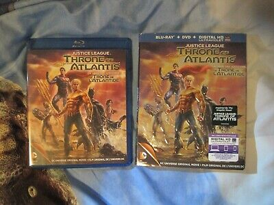 Justice League Throne Of Atlantis Blu-ray/DVD Like New
