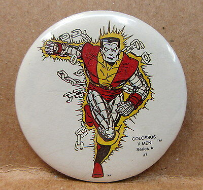 1984 COLOSSUS X-MEN Series A #7 Mile High Comics MARVEL character pinback button