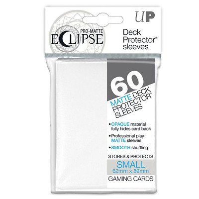 x2  60 ULTRA PRO DECK PROTECTOR SMALL PRO-MATTE ECLIPSE WHITE SLEEVES