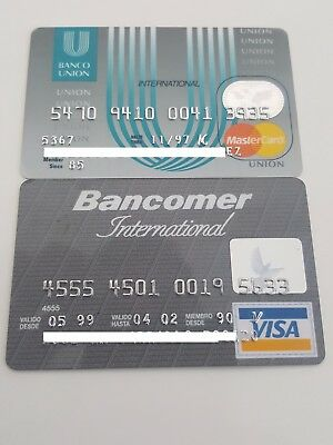 MEXICO - EXPIRED - CREDIT CARDS - BANCOMER & UNION BANKS - 90´s - RARE