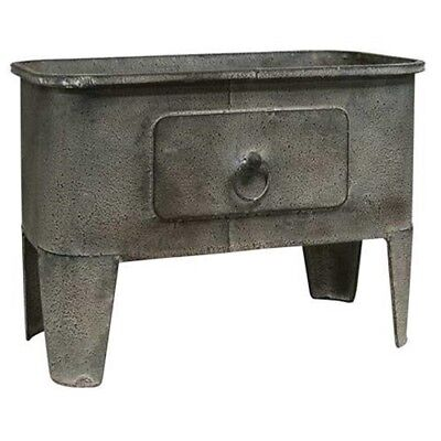 Gray Metal Basin country farmhouse decor kitchen living family bath room display