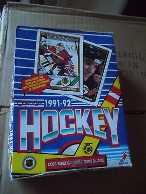 1991-92 OPC O-Pee-Chee Factory Sealed Wax Box (36 packs) Fresh from Case