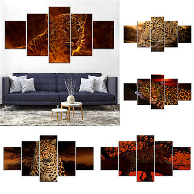 Leopard Wild Animal Canvas Print Painting Framed Home Decor Wall Art jj Poster