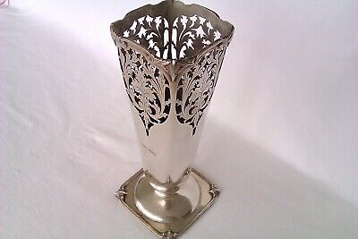 Extremely Rare Solid Silver Art Nouveau Style Mappin & Webb Vase 1949