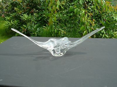 A Unusual Large Pretty Vintage French Glass Centre Piece (U1400)