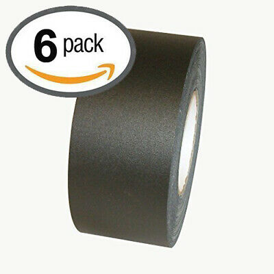 "BLACK Gaffers Tape POLYKEN 510, 72mm x 50M x 11.5 mil (3""x55yds) Pack of 6 Rolls"