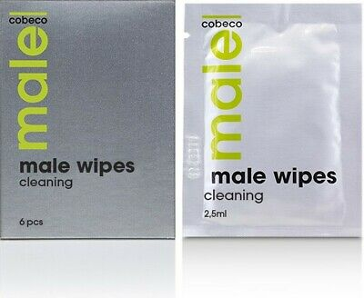 salviettine detergenti per uomo Cobeco Pharma MALE Wipes Cleaning - 2,5ml x 6pz