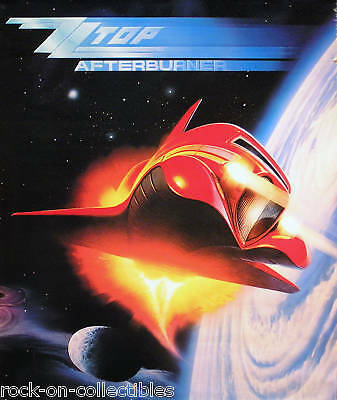 ZZ Top 1985 Afterburner Original Jumbo Promo Poster