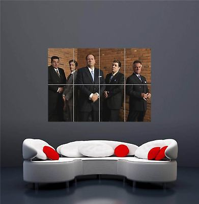 The Sopranos Gangsters Mafia Gang New Giant Wall Art Print Picture Poster Oz663