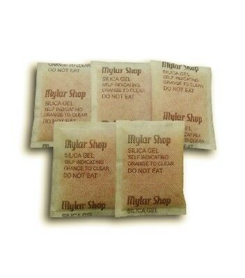 500 x 10g self-indicating silica gel desiccant sachets remove moisture, reusable